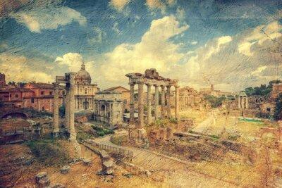 Fotomural Foro Romano. Roma. Itália.