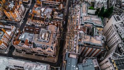 Fotomural Foto de Drone de Londres, Mayfair.