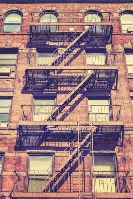 Fotomural Foto do estilo do vintage da construção de New York, EUA.