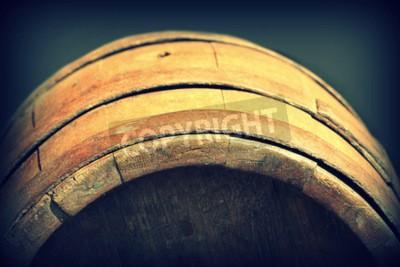 Fotomural Foto do vintage do tambor de madeira velho