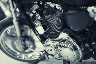Fotomural fragmento de uma motocicleta