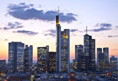 Fotomural Frankfurt ao entardecer