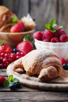 Fotomural Fresco, croissant, mistura, baga