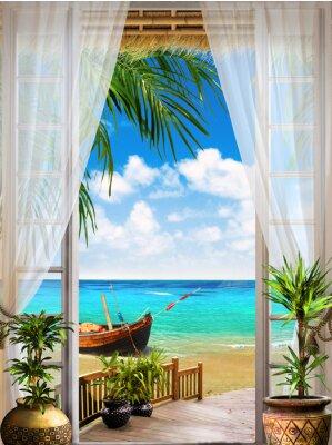 Fotomural Fresco de Digitas. Tropical view ver mais