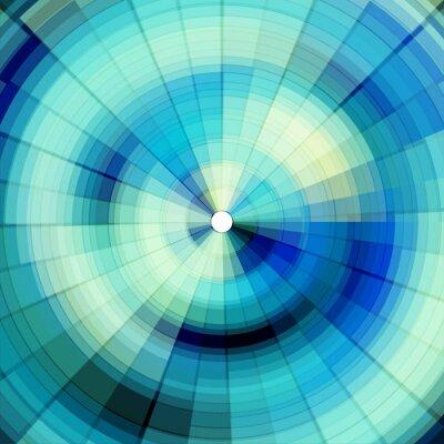 Fotomural fresco fundo digital azul