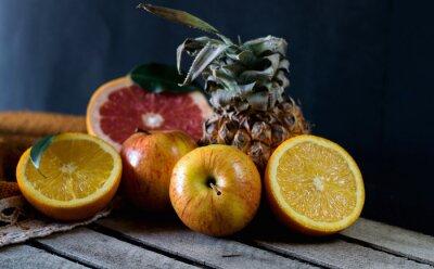 Fotomural Frutas, tabela