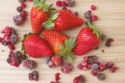 Fotomural Frutas vermelhas saudáveis