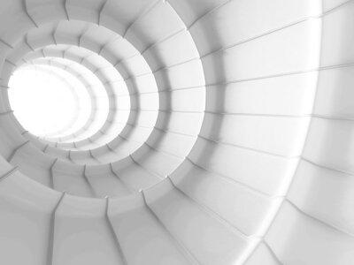 Fotomural Fundo abstrato branco do projeto do túnel