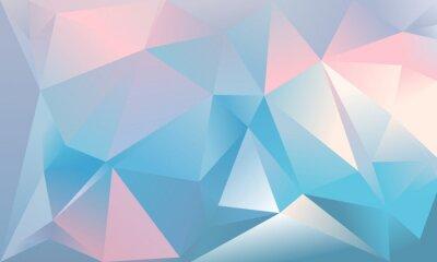 Fotomural Fundo abstrato do triângulo. Cor azul claro, cor-de-rosa e branca.