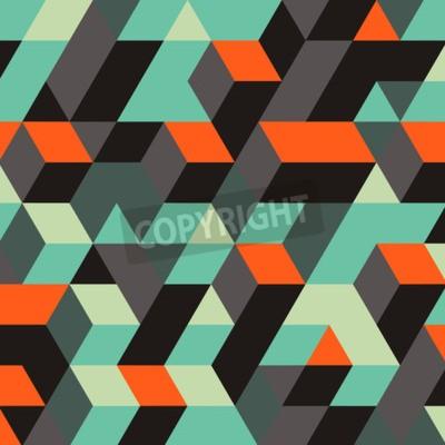 Fotomural Fundo abstrato geométrico 3d. Pode ser usado para papel de parede, fundo da página da Web, Web Banners.