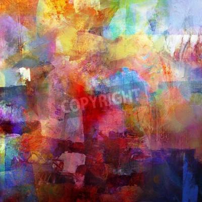Fotomural fundo abstrato pintado - criado pela combinação de diferentes camadas de tinta