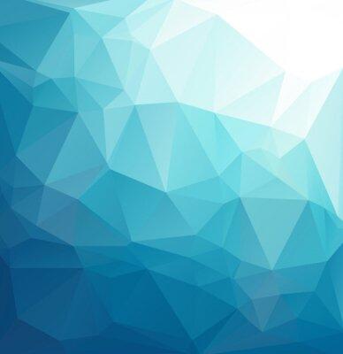 Fotomural Fundo azul do mosaico polygonal, moldes criativos do projeto