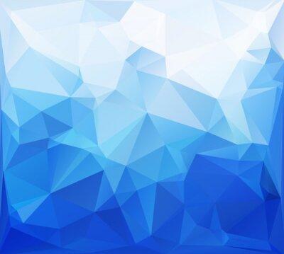 Fotomural Fundo azul Mosaico Poligonal, criativos modelos de design