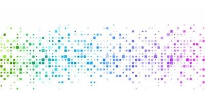 Fotomural Fundo branco com padrão geométrico colorido.