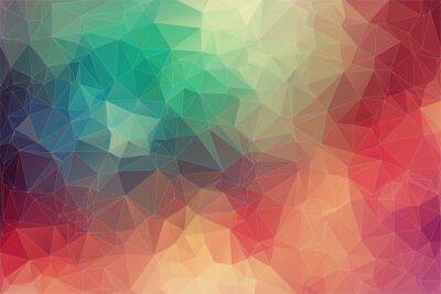 Fotomural Fundo colorido geométrica 2D Resumo