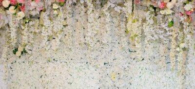 Fotomural fundo da flor. decoração de casamento de pano de fundo. Padrão de rosa. Flor de parede, fundo colorido, rosa fresca