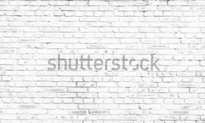 Fotomural fundo da parede de tijolo branco na sala rural,
