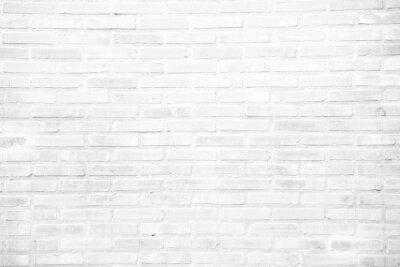 Fotomural Fundo da textura da parede de tijolo do grunge do branco
