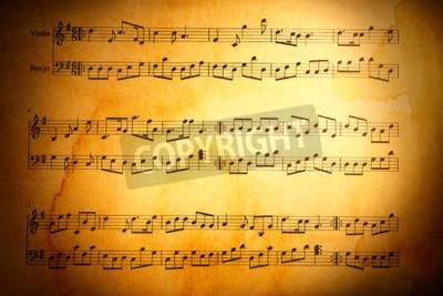 Fotomural Fundo das notas da música