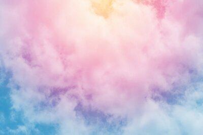 Fotomural fundo de sol e nuvem com um colorido pastel