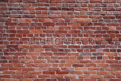 Fotomural fundo de textura de parede de tijolo vermelho velho