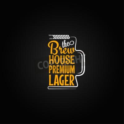 Fotomural Fundo do projeto da caneca de cerveja