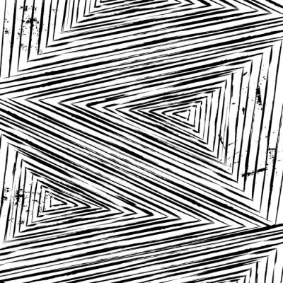 Fotomural Fundo do teste padrão geométrico abstrato, com golpes e salpicos