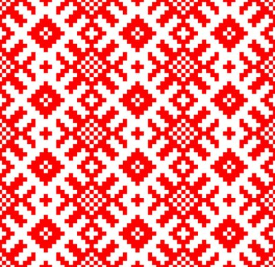 Fotomural Fundo do vetor. Sem emenda bordado eslavo padrão. Yarilo motive - Imagens vectoriais em stock