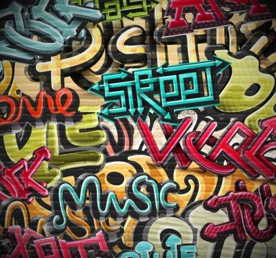 Fotomural Fundo dos grafittis