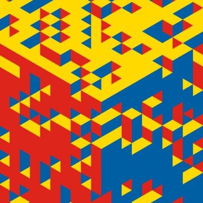 Fotomural Fundo geométrico abstrato 3d. Mosaic. Ilustração do vetor.