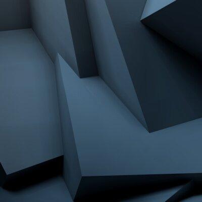 Fotomural Fundo geométrico abstrato com cubos sobrepostos