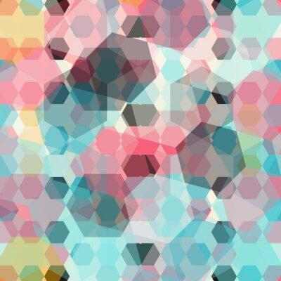 Fotomural Fundo geométrico colorido
