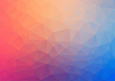 Fotomural Fundo geométrico colorido com triângulos