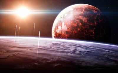 Fotomural Fundo infinito do espaço com nebulosas e estrelas. Esta imagem elementos fornecidos pela NASA