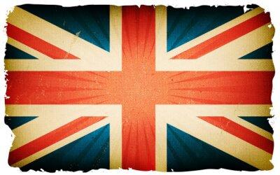 Fotomural Fundo inglês do cartaz da bandeira do vintage