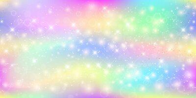 Fotomural Fundo mágico holográfico com faísca sparkles, estrelas e borrões.