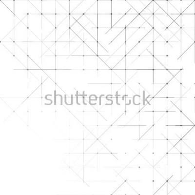 Fotomural Fundo minimalista geométrica simples. Padrão pontilhado de triângulos. Ilustração vetorial