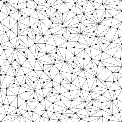 Fotomural Fundo poligonal, sem emenda, linhas e círculos