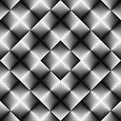 Fotomural Fundo quadrado abstrato. Padrão geométrico sem costura