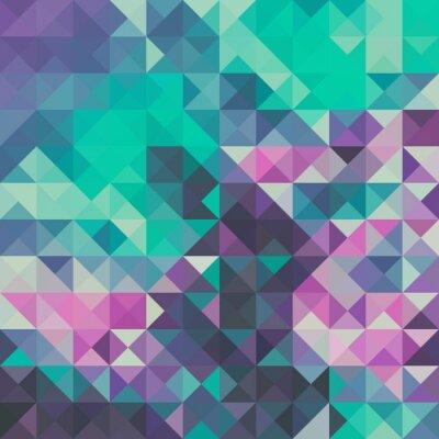 Fotomural Fundo Triângulo, verde e violeta
