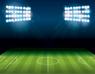 Fotomural Futebol Americano Campo de Futebol Iluminado Ilustração