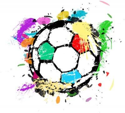 Fotomural Futebol, futebol, vetorial, ilustração, coloridos, pintura, splas