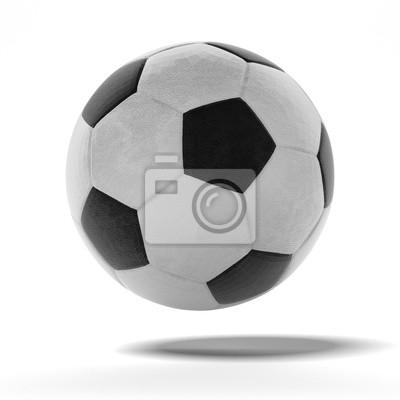 Fotomural Futebol isolado em um branco