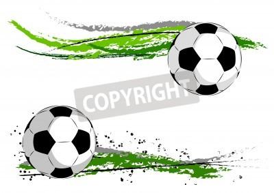 Fotomural Futebol no abstrato verde