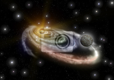 Fotomural galáxia em um espaço livre