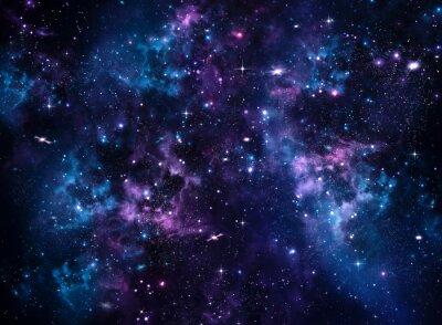 Fotomural Galaxy, fundo azul abstrato
