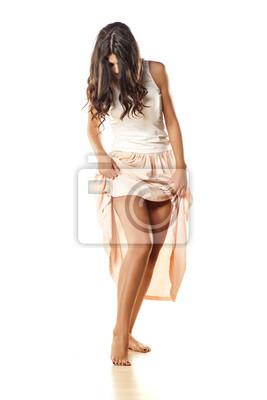 f59e5f1cd Fotomural garota atraente e bonita em uma saia