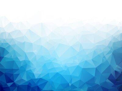 Fotomural Geométrico, azul, gelo, textura, fundo