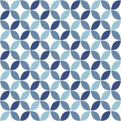 Fotomural Geométrico azul retro, Padrão