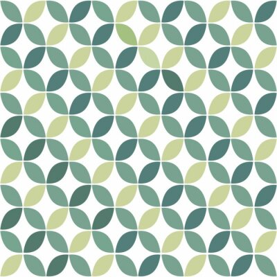 Fotomural Geométrico verde retro, Padrão